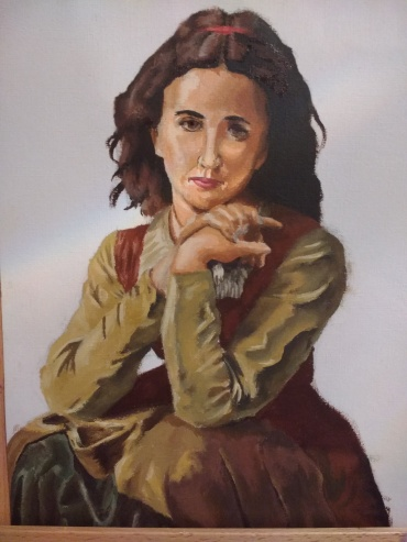 Mignon study in oil