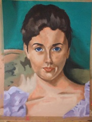 Lady Agnew study in oil